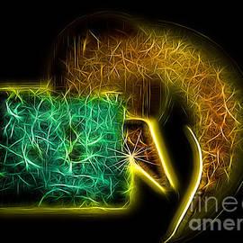 Jan Tyler - Hidden Treasure Neon Abstract.