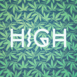 Philipp Rietz - HIGH TYPO  Cannabis   Hemp  420  Marijuana   Pattern