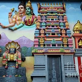 Imran Ahmed - Hindu deities on wall mural of Sri Senpaga Vinayagar Tamil temple Ceylon Rd Singapore