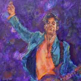 Quin Sweetman - His Purpleness - Prince Tribute Painting - Original