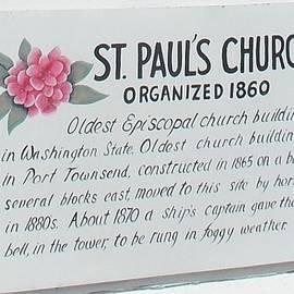 Patti Walden - History Sign