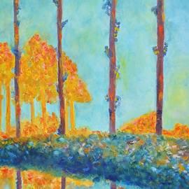 Marla McPherson - Homage to Claude Monet - Poplars