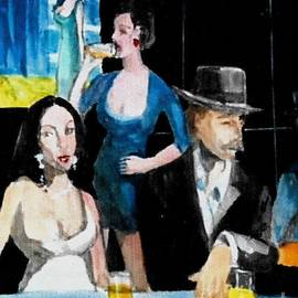 Harry WEISBURD - Homage to Manet Au Cafe