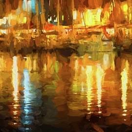 Karen Jensen - Honfleur Harbor Abstract