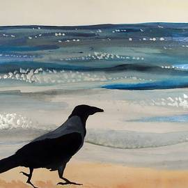 Dora Hathazi Mendes - Hooded Crow at the Black Sea by Dora Hathazi Mendes