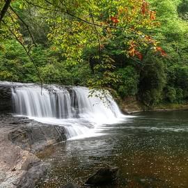 Carol R Montoya - Hooker Falls And Autumn Begins