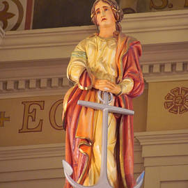Susan Bordelon - Hope Statue Inside St. Louis Cathedral New Orleans
