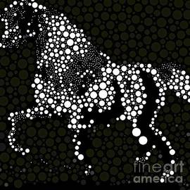 Saundra Myles - Horse Abstract Black and White