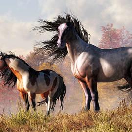 Daniel Eskridge - Horses in Fall