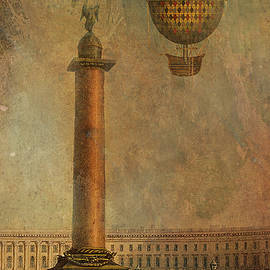 Jeff Burgess - Hot Air Balloon over St Petersburg and the Hermitage