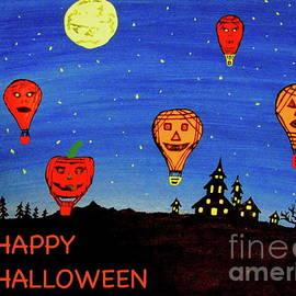 Hot Air Balloons Halloween Night