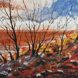 David K Myers - Hot Sand, Gouache Painting