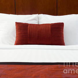 Hotel Room Bed and Pillows - Paul Velgos