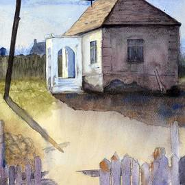 Nenad Kojic - House on the road original watercolor signed by Nenad Kojic
