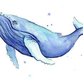 Humpback Whale Watercolor - Olga Shvartsur
