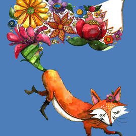 Shelley Wallace Ylst - Hunt Flowers Not Foxes Blue