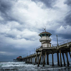 Huntington Beach Pier with Storm Clouds - Paul Velgos