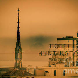 Claudia M Photography - Huntington Hotel and Grace Cathedral steeple