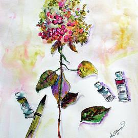 Hydrangea Still Life with Objects