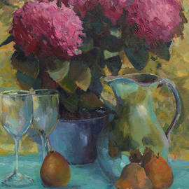 Laurel McFarland - Hydrangeas and Pears