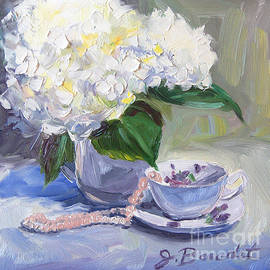 Jennifer Beaudet - Hydrangeas with Pearls