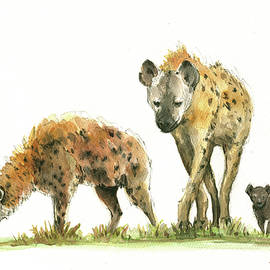 Hyena family  - Juan Bosco
