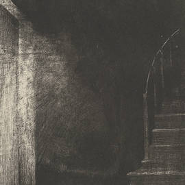 I Saw a Flash of Light, Large and Pale - Odilon Redon