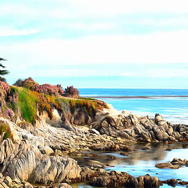 Barbara Snyder - Ice Plant Along The Monterey Shore