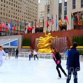 Ed Weidman - Ice Skating At Rockefeller Center