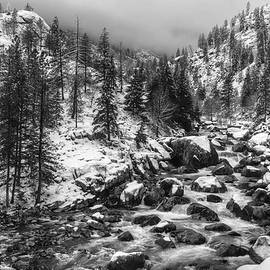 Icicle Creek Black and White - Mark Kiver