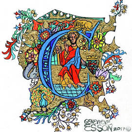 Genevieve Esson - Illuminated Letter C