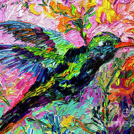 Ginette Callaway - Impressionist Hummingbird Oil  Painting