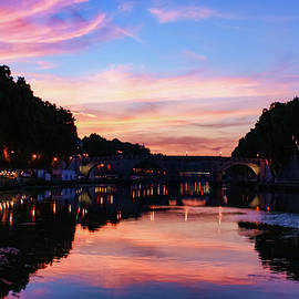 Georgia Mizuleva - Impressions Of Rome - Divine Sky and a Necklace of Lights Along Tiber River