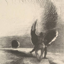 In the Shadow of the Wing, the Black Creature Bit - Odilon Redon