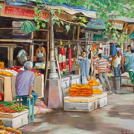 Dominique Amendola - India flower market street