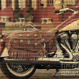 Indian Chief Vintage 2010, Vintage background, Motorcycle poster