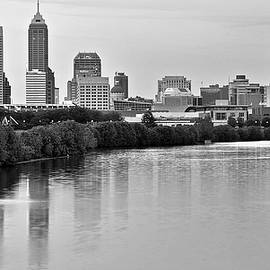 Frozen in Time Fine Art Photography - Indianapolis Charcoal Panoramic