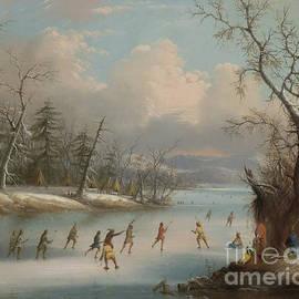 Indians Playing Lacrosse on the Ice, 1859 - Edmund C Coates