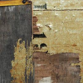 Anahi DeCanio - ArtyZen Studios - Rustic Industrial Burlap Wood Abstract