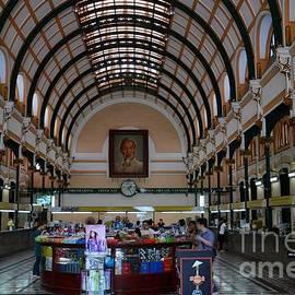 Imran Ahmed - Interior hall of historic Saigon Ho Chi Minh Central Post Office building Vietnam