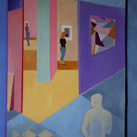 Victoria Sheridan - Interior with paintings