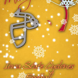 IOWA STATE CYCLONES CHRISTMAS CARD - Joe Hamilton