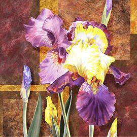 Irina Sztukowski - Iris Flower Decorative Art