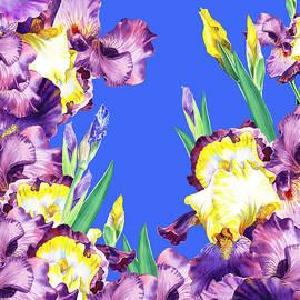 Irina Sztukowski - Iris Garden Blue Blue Sky