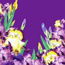 Irina Sztukowski - Iris garden Purple Sky