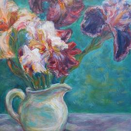 Quin Sweetman - Iris Medley - Original Impressionist Painting