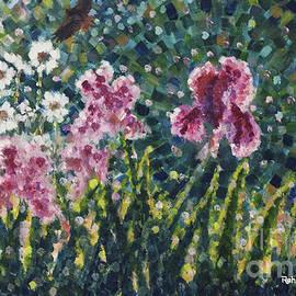 Jim Rehlin - Irises-Daisies-Hawk