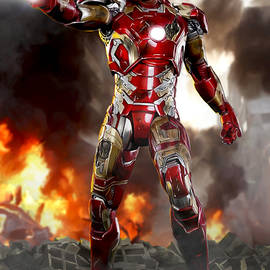 Iron Man with Battle Damage - Paul Tagliamonte