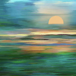 Georgiana Romanovna - Islands In The Sunset Abstract Realism