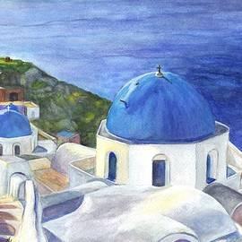 Carol Wisniewski - Isle of Santorini Thiara  in Greece